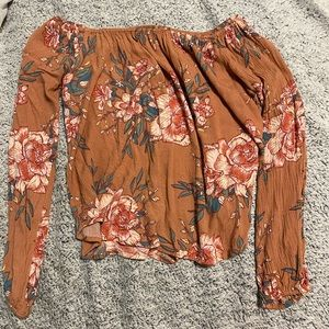BILLABONG OFF THE SHOULDER FLORAL LONG SLEEVE